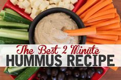 The BEST Vitamix Hummus Recipe - Gluten Free Vegan