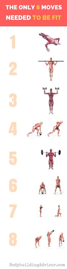 Check out the only 8 #workout moves you need to do to be fit! #fitness