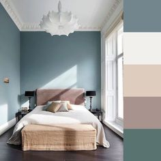 Room Decor: 60 Ideas and Designs for You to Be Inspired - Home Fashion Trend Best Bedroom Colors, Bedroom Colour Palette, Bedroom Color Schemes, Bedroom Paint Colors, Colors For Master Bedroom, Interior Design Color Schemes, Design Trends, Design Ideas, Design Apartment