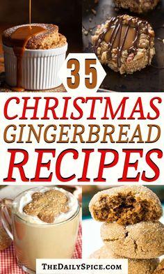 Winter Desserts, Christmas Desserts, Holiday Treats, Christmas Treats, Just Desserts, Dessert Recipes, Gingerbread Recipes, Christmas Gingerbread, Gingerbread Cookies