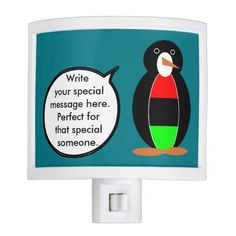 African American Talking Penguin Night Light