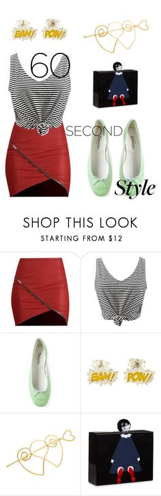"""""""afternoon"""" by raluca48 ❤ liked on Polyvore featuring WithChic, Repetto, Lulu Guinness, asymmetricskirts and 60secondstyle"""