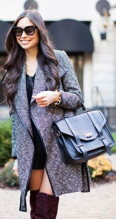 #Tweed #Coat by With Love From Kat => Click to see what she wears