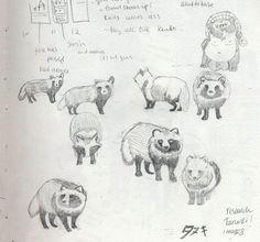 http://emu-attacks.blogspot.com/2009/11/tanuki-trouble.html #tanuki
