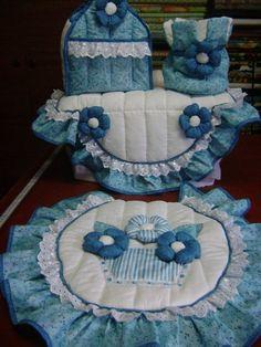 Ba o set patrones en lenceria de cocina cocina for Amarilis decoration