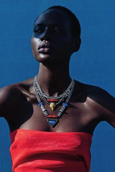 Ajak Deng by Julia Noni for Neiman Marcus March 2015 4