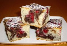 Czech Recipes, Wedding Desserts, Sponge Cake, Nutella, Cheesecake, Deserts, Muffin, Food And Drink, Sweets