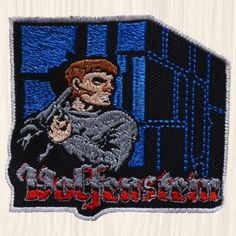 Wolfenstein 3D Embroidered Patch PC Videogame The New Order Spear of Destiny