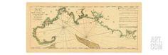 1763, New England Chart, Cape Cod to Casco Bay, Maine, Massachusetts, New Hampshire Giclee Print at Art.com
