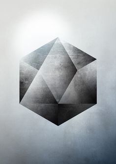Sacred Geometry Two Art Print--nice shading for an icosahedron