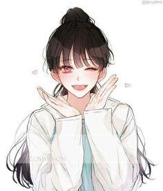 Trendy Line Art Drawings Sketches Awesome Cool Anime Girl, Pretty Anime Girl, Beautiful Anime Girl, Anime Art Girl, Anime Girls, Manga Girl, Chica Anime Manga, Anime Angel, Fanarts Anime