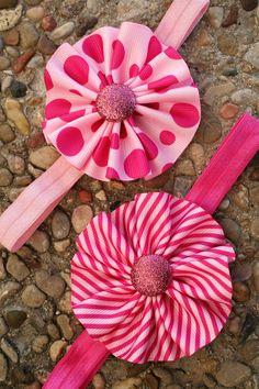 Valentine's Day Baby Girl Headband  Polka Dots by InspiredbyZoelle, $4.50
