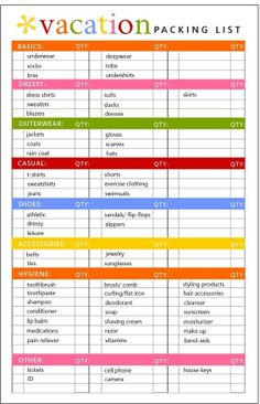 Free Printable Ultimate Packing Checklist | Packing checklist and ...