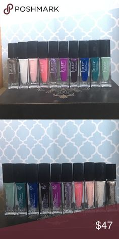 Julep nail polish collection!! (In order) Savoy, Bunny, Jules, Maren, Phia, Flora, Elle, Bailey, Libby, Kam.                                                            Single price $7, Buy 2 for $10, Buy 3 for $15, Buy 4 for $20 and so on! As you add a bottle add $5 to the total. OR buy the whole collection for $47!!!                     Savoy, Bunny, Jules, Maren, Phia, Flora (been used once).  Elle, Bailey, Libby, Kam (only been swatched). Just list in the comments which ones you'd like…