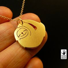 SLOTH baby  gold plated sterling silver necklace by StefanoArt