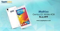 Matrixx Genius G1 (White, 4 GB)  5.5 inch quarter HD Display   4 GB ROM   Expandable Upto 32 GB.