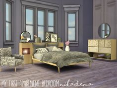 121 Meilleures Images Du Tableau Furnitures Bedroom Sims4