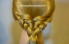 """Please visit http://princesshairstyles.com for hundreds of braids and hair tutorials. Our hairstyle this week was named the """"waffle cone"""" by a few awesome me..."""