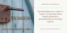 BENCHMARKING no es espiar o copiar. Es aprender de las mejores prácticas y personalizarlas en tu propio negocio. #benchmarking #marketing #marketingdigital #marktetingonline #socialmediamarketing #marketingestrategico #estrategia #pymes #empresas #frases #frasesdemarketing