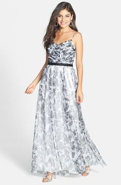 I think this would look nice on you Kallie. Or this is something I could maybe wear to Emily and Christian's wedding.   BNWT $178 HAILEY BY ADRIANNA PAPELL A-LINE PRINT MESH GOWN SZ 6 #HAILEYBYADRIANNAPAPELL #Maxi #Casual
