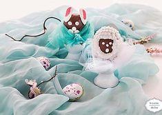 Ovetti di cioccolato decorati con ghiaccia | Coniglietto e pecorella