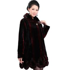 >> Click to Buy << Wine Red 2013 Winter Fashion Thick Warm Medium Long Plush Faux Mink Fur Coat Women Overcoat Outerwear M-Xxxl Free Shipping D1843 #Affiliate
