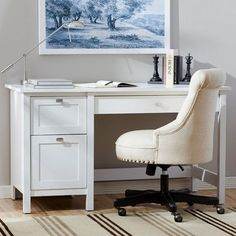 Three Posts Ackerson Pedestal Computer Desk & Reviews | Wayfair
