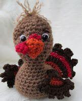 Teri Crews Designs: Free Cute Turkey Crochet Pattern