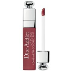 Dior Natural Berry Addict Lip Tattoo Long-Wear Colored Tint (88.120 COP) ❤ liked on Polyvore featuring natural berry