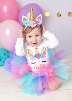 Unicorn birthday outfit first birthday outfit girl birthday outfit unicorn baby girl birthday outfit unicorn shirt girl unicorn set Baby Girl Birthday Outfit, Little Girl Birthday, 1st Birthday Outfits, Birthday Tutu, Unicorn Birthday Parties, First Birthday Parties, Birthday Party Decorations, Birthday Shirts, First Birthdays