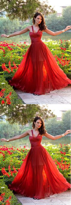 Popular red prom dress, prom dresses online, prom dresses discount, 16004