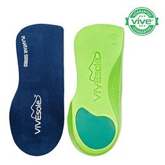 3/4 Length Orthotics by VIVEsole - Plantar Series - Insoles with Arch Support and Heel Cushion for Plantar Fasciitis (X-Small) by VIVEsole #Length #Orthotics #VIVEsole #Plantar #Series #Insoles #with #Arch #Support #Heel #Cushion #Fasciitis #Small)