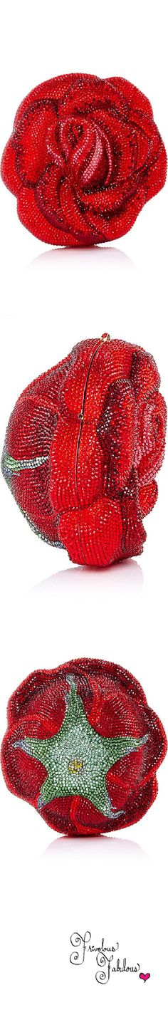 Shop Judith Leiber American Beauty New Rose Clutch. This rose clutch by **Judith Leiber Couture** is rendered in tonal pink and red crystals and features a small lock closure. Red Fashion, Fashion Bags, Fashion Accessories, Unique Handbags, Beaded Bags, Judith Leiber, Shades Of Red, Couture, Clutch Purse