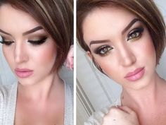 """The Nudes Tutorial ♡ """"The Kasey"""" VIA Still Glamorous {great way to use this palette}"""