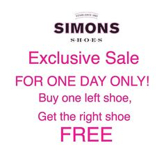 Exclusive sale for the start of April. Just enter promo code: APRILFOOLS  #shopping #April #aprilfools #shoes #sale #fashion #simonsshoes #instashoes #bogo