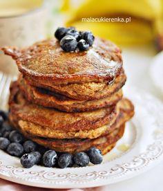 Pancakes wegańskie z bananami, bez cukru, bez glutenu Pancakes, Breakfast, Recipes, Food, African Food Recipes, Morning Coffee, Essen, Pancake, Eten