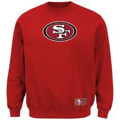 San Francisco 49ers Majestic Classic Heavyweight VI Pullover Crew Sweatshirt – Scarlet
