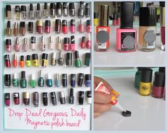 DDG DIY: Nail Polish Magnet Board  | how tos feature ddg diy beauty tips beauty 2 beauty 2  picture