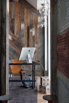 Workspace at The Stahl House By Pierre Koenig, shot by Peggy Wong. Rustic, yet somehow modern and minimal.