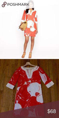J. Crew Big Apple Tunic Dress 00 Color closer to first pic. Great condition. 100% cotton J. Crew Dresses Long Sleeve