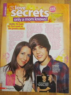 Justin Bieber, Full Page Pinup Clipping