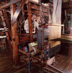 Custom Silk Weaving Braintree Silk weaving looms still used today by the custom silk producing company of Humphries England