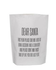 Papiertüte Dear Santa... One Size