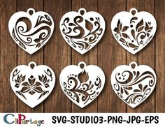 Wooden Jewelry, Clay Jewelry, Metal Jewelry, Jewelry Crafts, Diy And Crafts, Paper Crafts, Laser Cutter Projects, Christmas Hearts, Scroll Saw Patterns