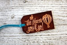 Oh The Places Youll Go Luggage Tag Graduation Gift