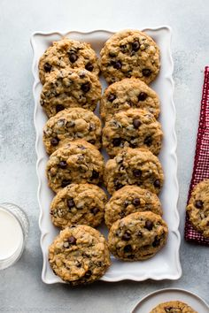 Big Fat Peanut Butter Oatmeal Chocolate Chip Cookies | Sally's Baking Addiction