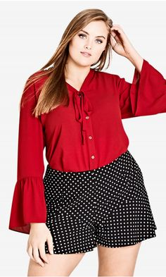 460c91cc30ad5f 9 Best peplum tops for plus size images