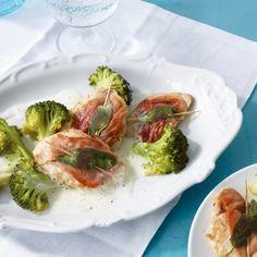 Puten-Saltimbocca mit Broccoli