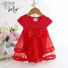 Bebê recém-nascido dress arco macacão de bebê de algodão de verão para meninas miúdos verão roupas infantis do bebê meninas macacão alishoppbrasil