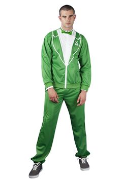 Men's Tux + Tracksuit = Traxedo The Irish, Green - also in black, red, orange, blue |funny mens fashion| |funny gifts for men| |funny tuxedo| |st. patty's day clothes for men|